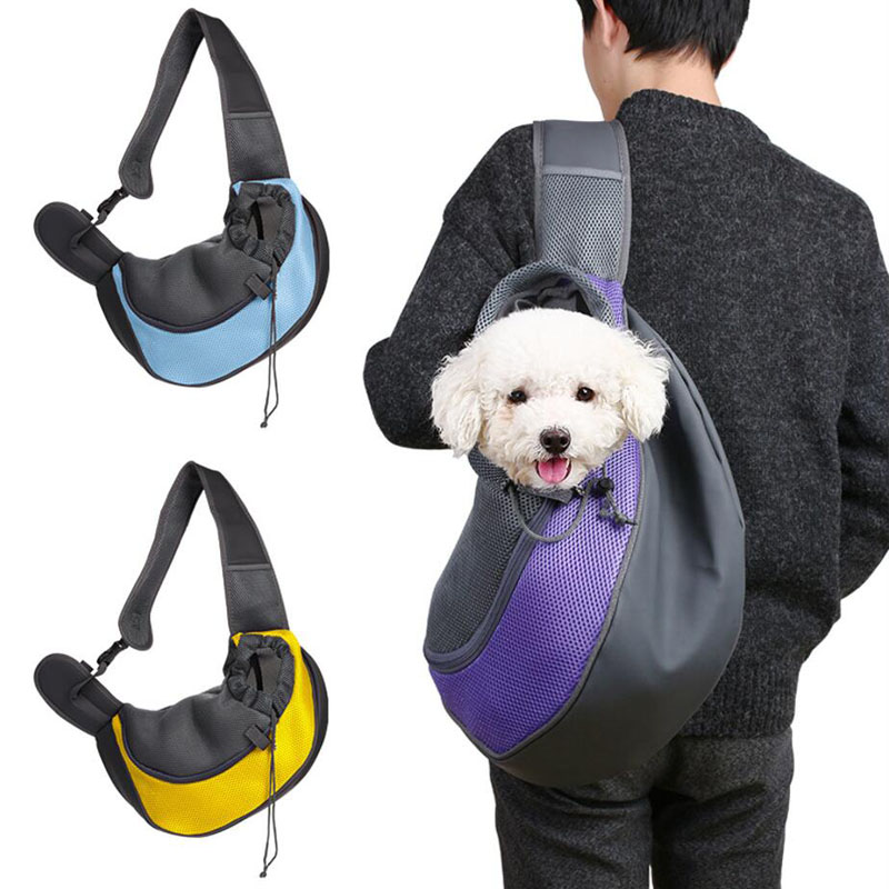 Pet Carrier Cat Puppy Small Animal Dog Carrier Sling Front Mesh Travel Tote Shoulder Bag Backpack Pet Silicone Bowl Optional S/L
