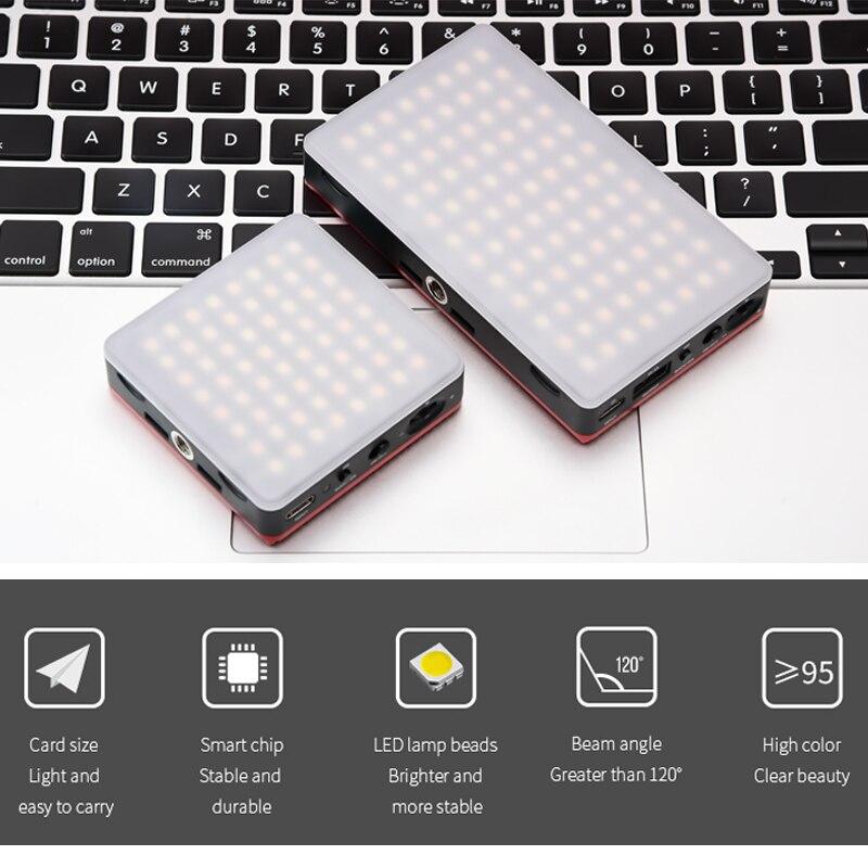 SETTO 64 96 PCS LED Video Color Temperature 3200-5600k TLCI/CRI 95+ On-Camera Fill Light Pocket Sized Tiny LED Lighting For DSLR