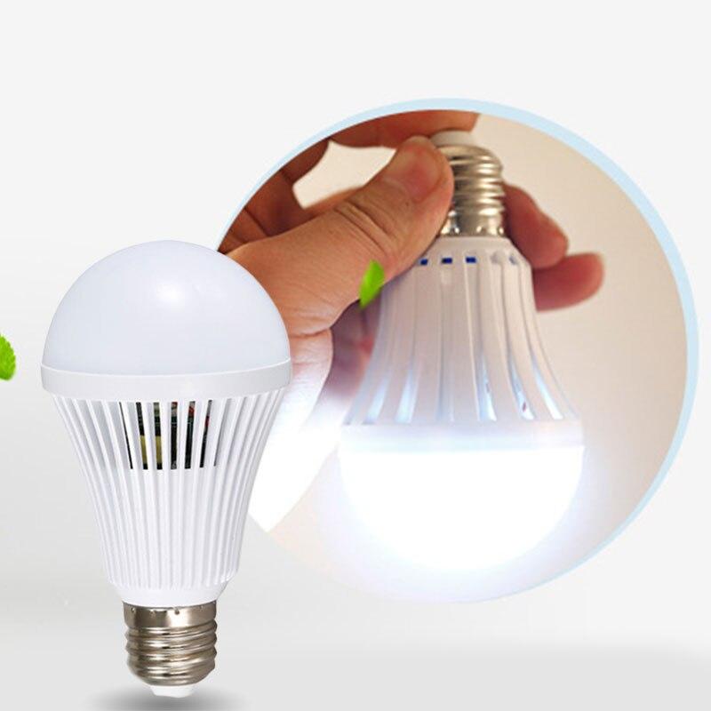 Е27 светодиодные энергосберегающие интеллектуальные экстренного лампа 12 вт 1200лм домашние