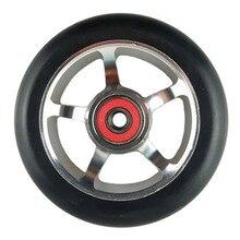 JEERKOOL 88A 100 мм колеса скутера скейтборд аксессуары Скорость коньки колеса с подшипниками сплав Сталь колеса Hub серебристый LZ7