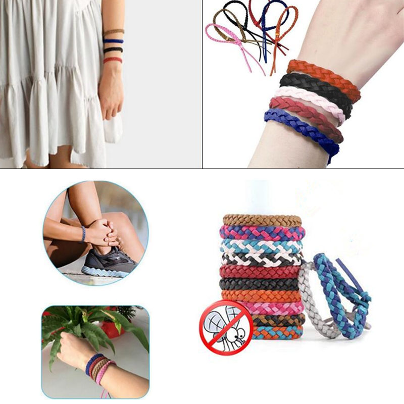 Leather Insect Mosquito Repellent Bracelet 300 Hours Adult Natural Anti Mosquito Control Wristband 240Hours of Insect Protection