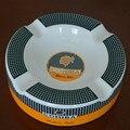 COHIBA High-definition fashion Middle Size 4 Holder Bone China Ceramic Round Cigar Ashtray