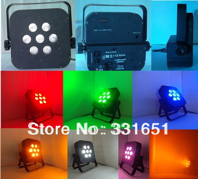 8pcs/lot 7x15W RGBAW 5IN1 Color Flat LED Par Light American DJ 5/9 channels 10pcs lot 15 10 mm 2pin kcd1 boat rocker switch spst snap in on off position snap 3a 250v mini switch 10 15 mm g130