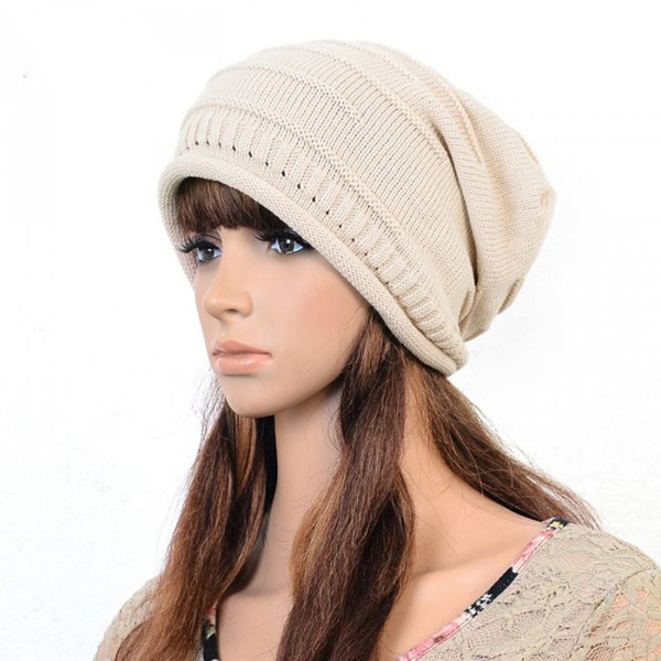 1pc 2014 Autumn Winter Cap Unisex Warm Woolen Knitted Fashion Hat For Women Skullies Slouch  Baggy Beanie