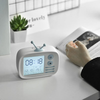 New Retro TV Alarm Clock Multi function USB Charging Voice Time Snooze Silicone Calendar Alarm Clock For Home Office Desk Kids