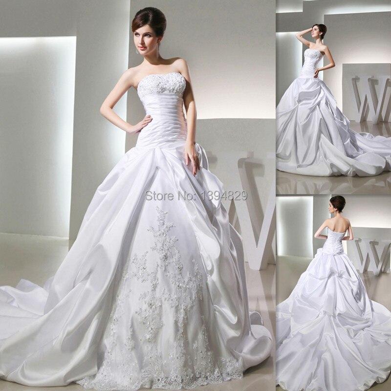 Scottish Ball Gown Bridal Dresses Corset Strapless White Satin ...