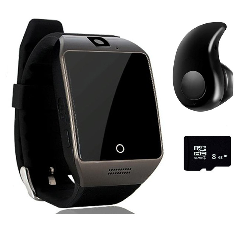 imágenes para Nuevo q18 smart watch smartwatch impermeable deporte reloj soporte nfc sim tarjeta de la cámara para samsung android teléfono pk gt08