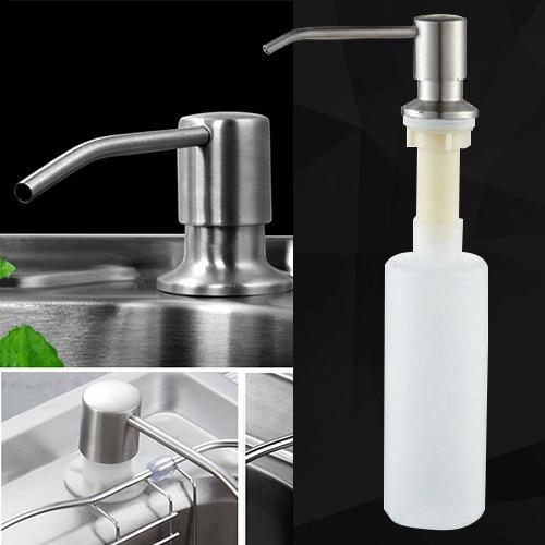 Ordinaire Stainless Steel Liquid Soap Dispenser Promotion Deck Mount Brushed Nickel  Soap Dispenser Kitchen Sink Soap Box Bottle