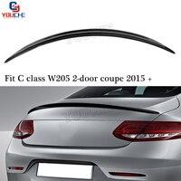 C63 Look Carbon Fiber Rear Spoiler Trunk Wing for Mercedes W205 C205 2015 + C Class C250 C300 C350 2 door Coupe