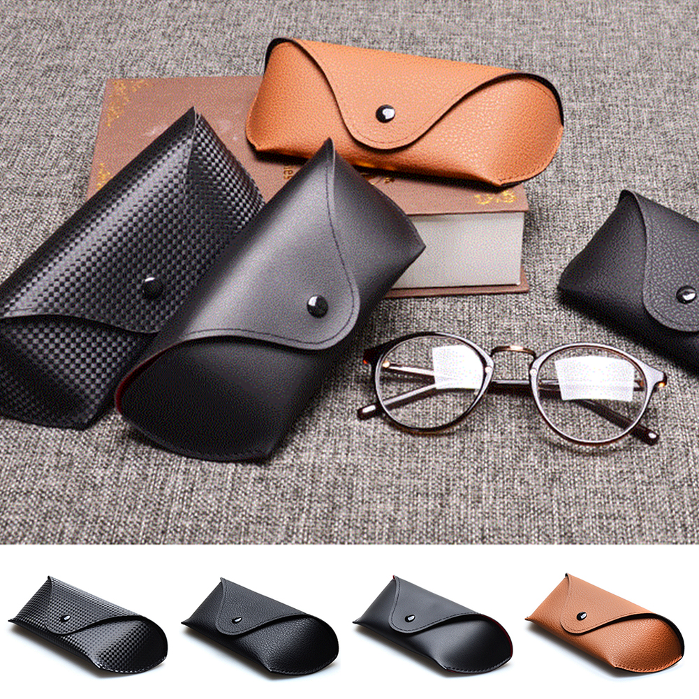 Fashion Men Women Portable Glasses Case Magnetic PU Leather Fold-able Glasses Box For Eyeglass Oversize Sunglasses