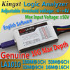 Kingst LA1010 USB Logic Analyzer 100M Max Sample Rate 16Channels 10B Samples MCU ARM FPGA Debug