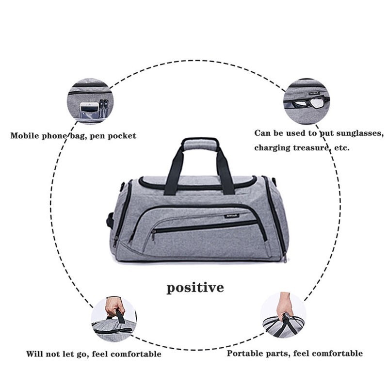 Image 5 - Dry And Wet Separation Shoulder Bag Handbag Sports Fitness Bag Business Luggage Clothes Shoes Storage Bag Accessories Organizer-in Storage Bags from Home & Garden