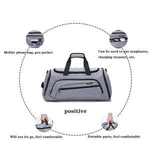 Image 5 - Trockenen Und Nassen Trennung Schulter Tasche Handtasche Sport Fitness Tasche Business Gepäck Kleidung Schuhe Lagerung Tasche Zubehör Veranstalter