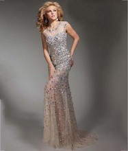 Luxus 2016 Abendkleider Strass Perlen Kristalle Robe De Soiree Kaftan Formale Kleider Hochzeit Celebrity Dress