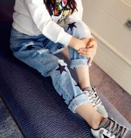 2018 frühling Herbst Hosen für Mädchen Gewaschen weiße Jeans Mädchen Studenten 4-15 Jahre alt Kinder Jugendliche Casual Denim hosen MMX1766