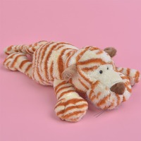 Brand New Lying 30cm Wild Tiger Plush Toy For Cute Baby Kids Gift Plush Doll Free