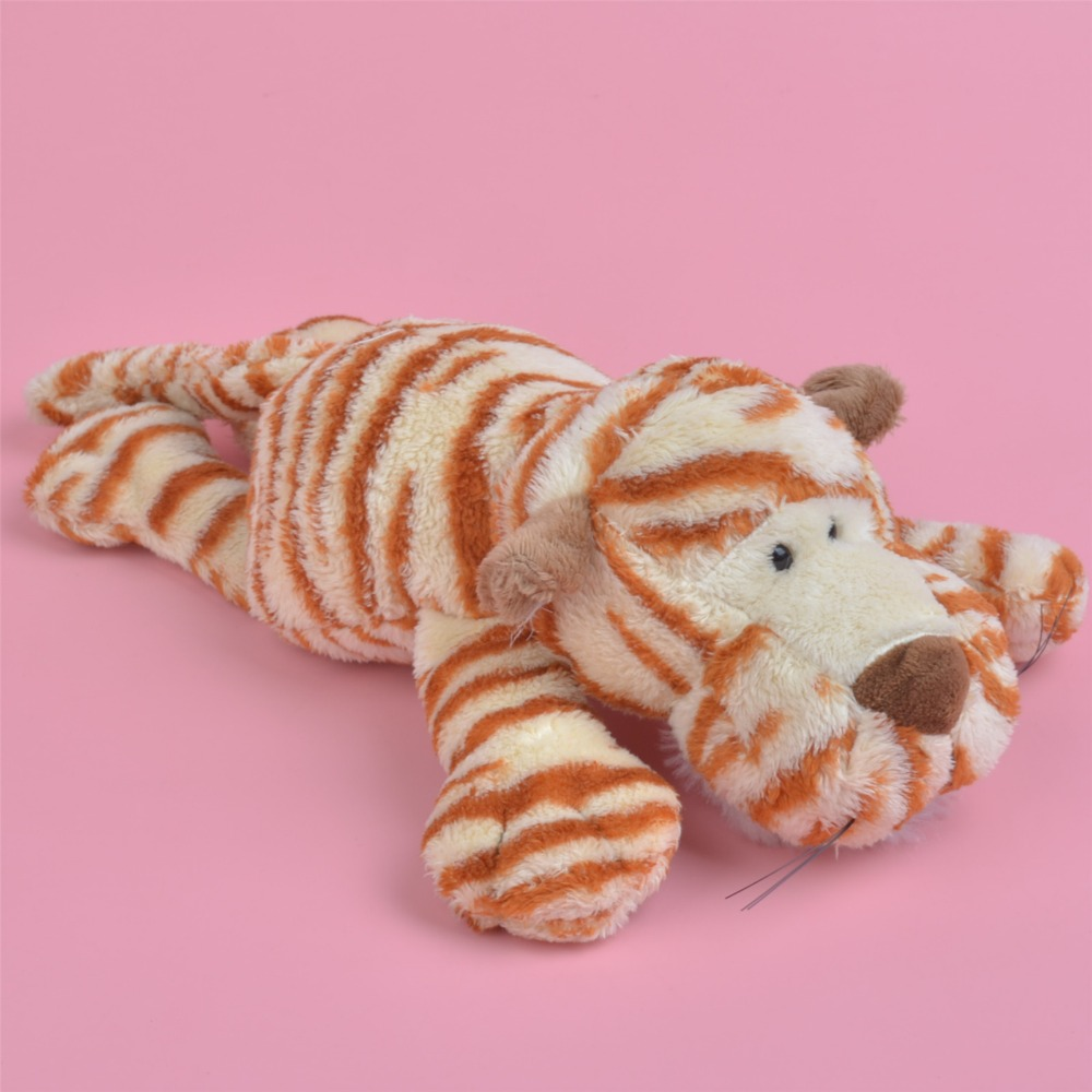 Brand New Lying 30cm Wild Tiger Plush Toy For Cute Baby/ Kids Gift, Plush Doll Free Shipping