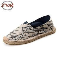 Zuoxiangyu 15color New Arrival Retro Bohemian Striped Design Ladies Mens Casual Espadrilles Shoes For Male Unisex