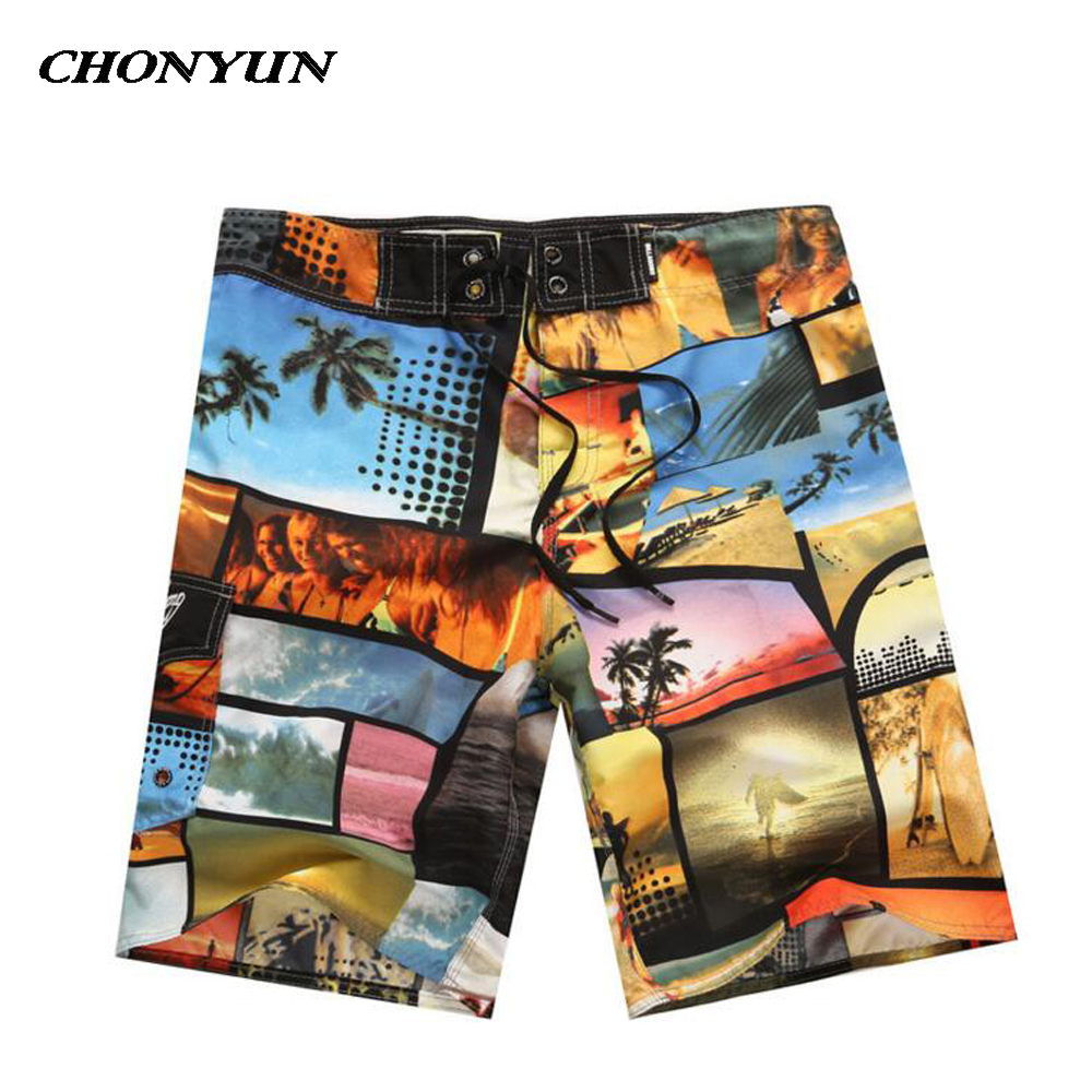 2019 New Men's Quick Dry Mens Board Shorts Surf Swimwear Beach Shorts For Men Swim Trunks Swimsuits Male Briefs Short Bermuda