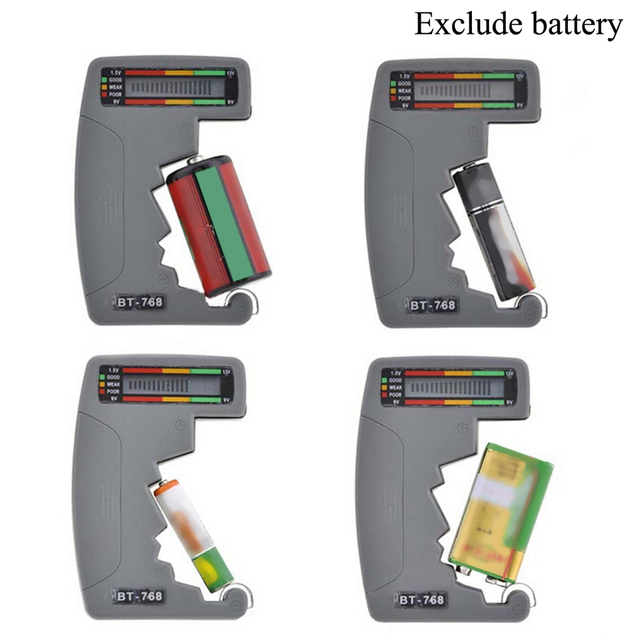 Digital LCD Battery Tester For Testing 9V 1.5V C AA AAA Normal Alkaline Rechargeable Batteries Universal Household Battery Test