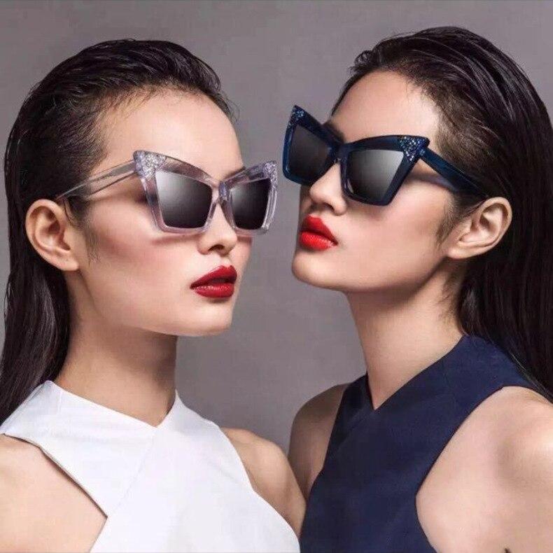 Ojo de Gato mariposa moda diva mujeres gradiente lente XL tamaño gafas de  sol acetato Marcos 97215 oculos de sol estilo europeo f1918b4911