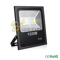 100W Black Shell Ultra Slim LED Flood Light Garden Waterproof Outdoor Lamp IP65 Cool White Warm