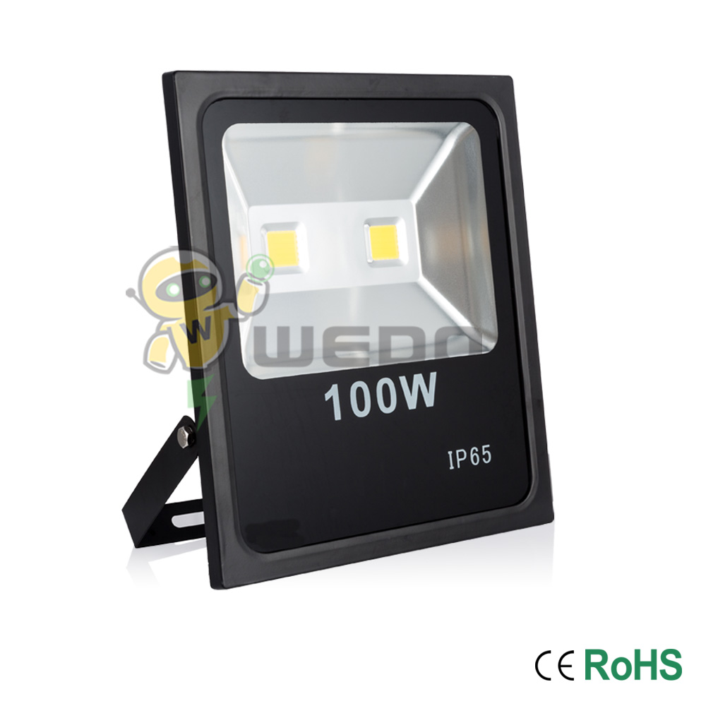 100W Black Shell Ultra Slim LED Flood Light Garden Waterproof Outdoor Lamp IP65 Cool White/Natural White/Warm White ultra black