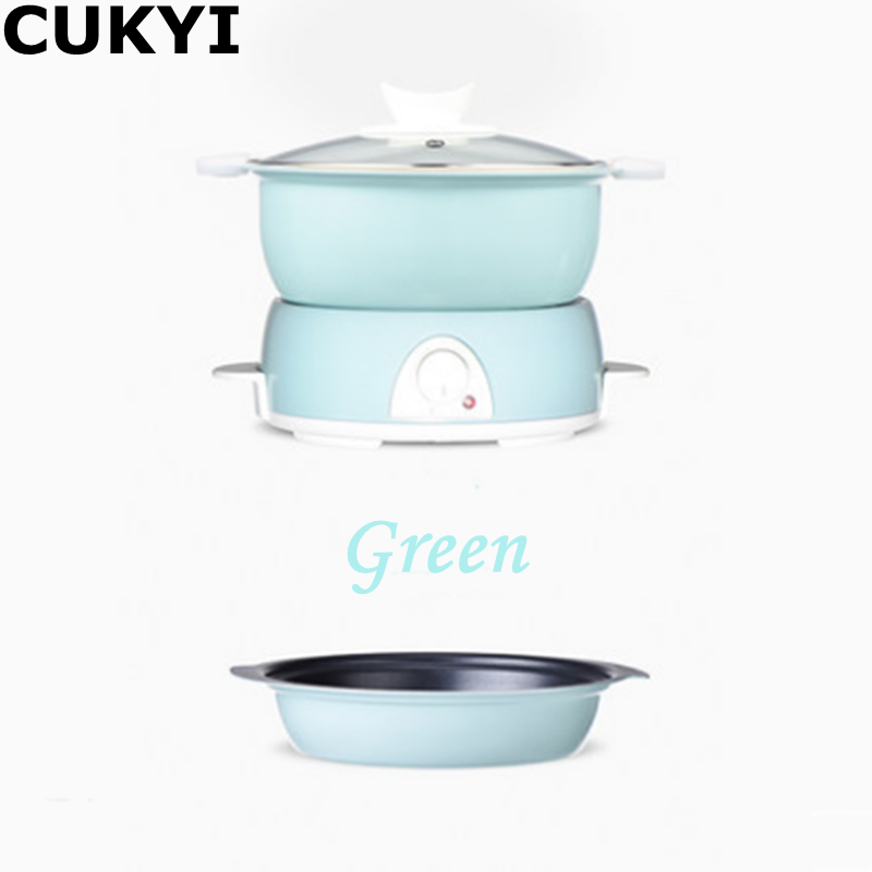 CUKYI 700W/220V/50Hz Split Type Multifunctional Household Electric Cooker Adjustable Fire Power Uniform Heating Electric Caldron 220v 600w 1 2l portable multi cooker mini electric hot pot stainless steel inner electric cooker with steam lattice for students
