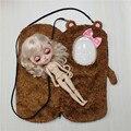 Игрушка в Подарок для sleepbag блит кукла милые куклы мешок с розовым бантом исходящих пакетов розовый мешок коричневый кукла, мешок