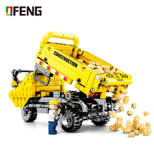 Technics city tricycle Truck building block engineering vehicle assemable DIY bricks worker figures educational toys for gifts city creators radio remote control heavy haul train building block worker figures engineering bricks 60098 rc assemblage toys