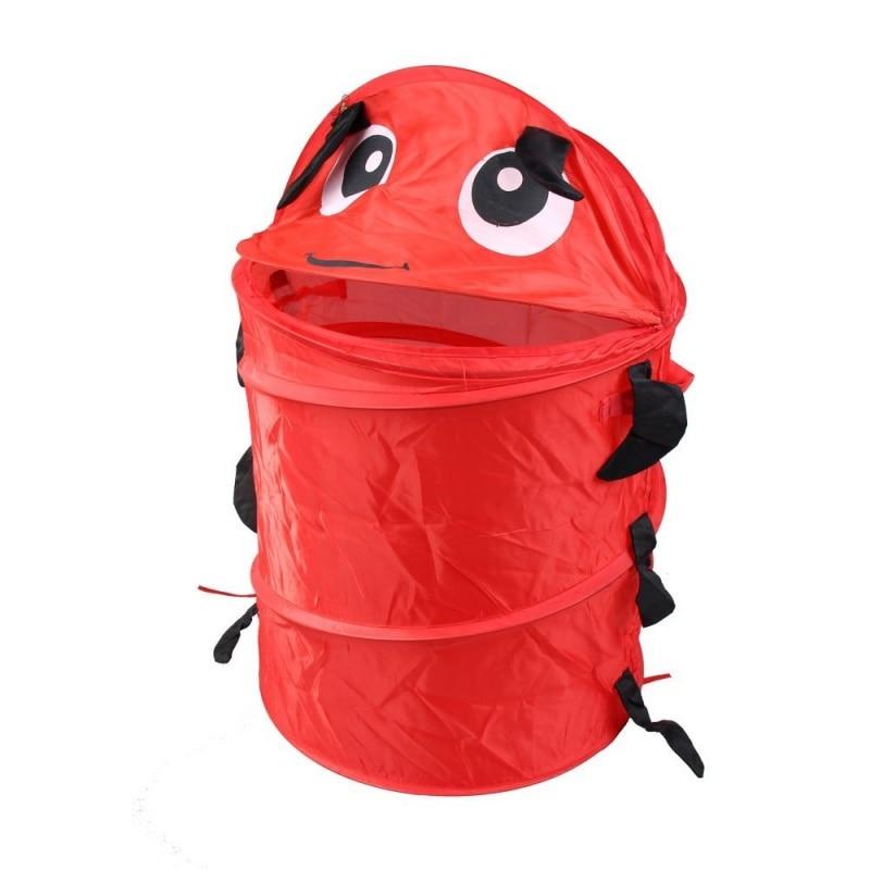 New-Animal Design Folding Laundry Basket Laundry Bag Laundry Box (Red)