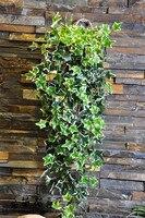 Kunststoff Blatt Weiß Immergrünen großen blatt Grün Rankendekor Künstliche Pflanzen Grüne Ivy Blätter Künstlichen Hängen rattan