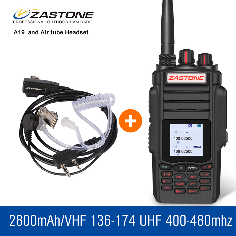 Zastone A19 10W Talkie Walkie 136-174 400-480MHZ 2800mAh High Power Walkie Talkie Handheld Radio Security Equipment