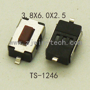 30PCS 2Pin Red Button Push Switch SMD 12V Momentary Tactical Switch Motorbike Key Button 4X6X2.5MM ROHS 260GF