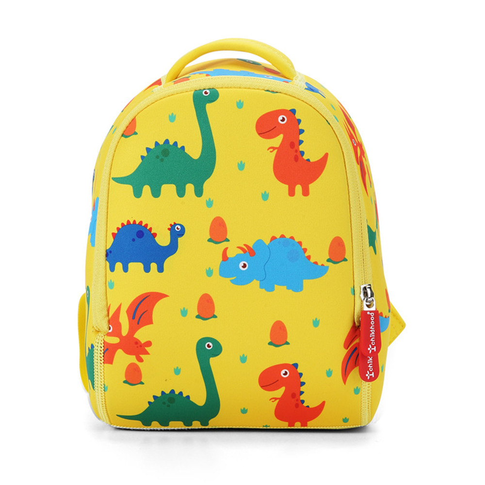 Child Baby Girls Boys Kids Cartoon Dinosaur Zipper Backpack Handbags School Bag