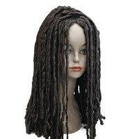 StrongBeauty Spiral Curls Hairstyle African American Wig Medium Length Black Brown Auburn Dreadlock Wigs