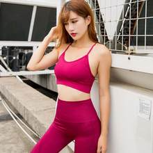 2019 Newest Sexy Women Solid Color Hollow Out Elastic Breathable Gym Fitness Sports Bra Yoga