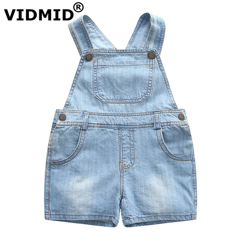 VIDMID Kids Denim Overalls Baby Pants Clothes Girls Boys Jeans Jumpsuit Children Rompers Toddler Clothing Baby