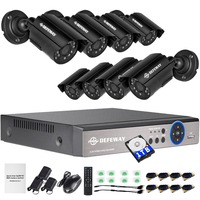 DEFEWAY 1TB HDD 8CH DVR KIT HD 720P Outdoor Indoor Cameras CCTV System Night Vision Security