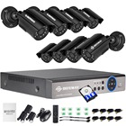 DEFEWAY 1200TVL 720P HD Outdoor Security Camera System 1TB Hard Drive 8 Channel 1080N HDMI CCTV DVR Kit 8CH AHD Camera Set
