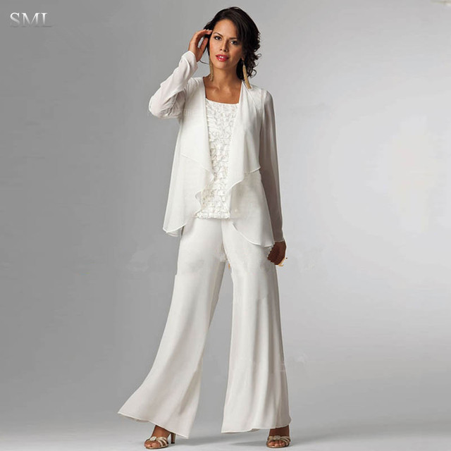 SML Elegant Three Pieces Mother Of The Bride Jacket Dresses Lace ...