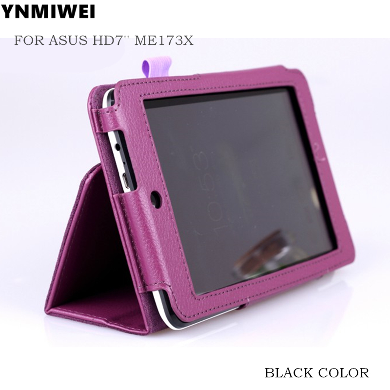 YNMIWEI ME173 Leather Cover Case For ASUS MeMO Pad HD7 ME173 ME173X 7.0 Tablet Cover Case +protector+gift beautiful gitf new luxury stand case cover for asus memo pad 7 me176c me176cx tablet wholesale price jan16