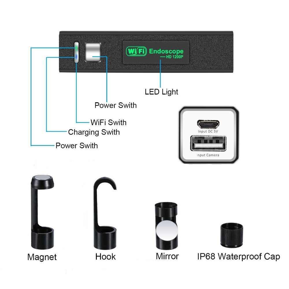 Видеокамера для активного отдыха видео канализация icamera бороскоп осмотр эндоскопии wifi эндоскоп