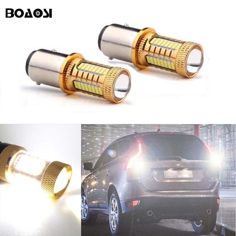 BOAOSI 2x For <font><b>volvo</b></font> <font><b>xc90</b></font> xc60 v70 s80 s40 v60 c30 v50 Canbus Error Free backup reverse light lamp 1156 BA15S LED CREE Chip image