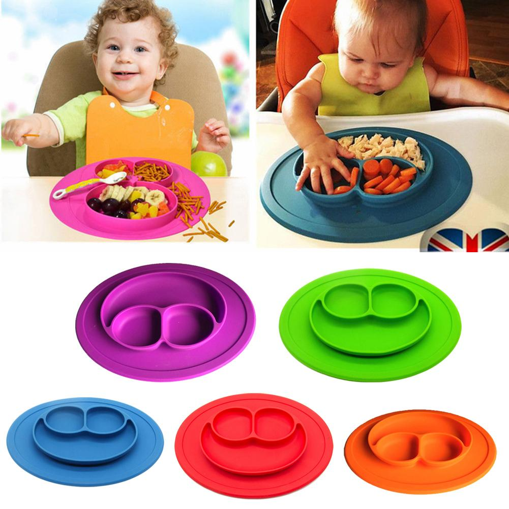 aliexpresscom  buy mini size smile  pc baby silicone placemat  - aliexpresscom  buy mini size smile  pc baby silicone placemat divideddish bowl plates food grade silicone placemats kids suction to dining tablefrom
