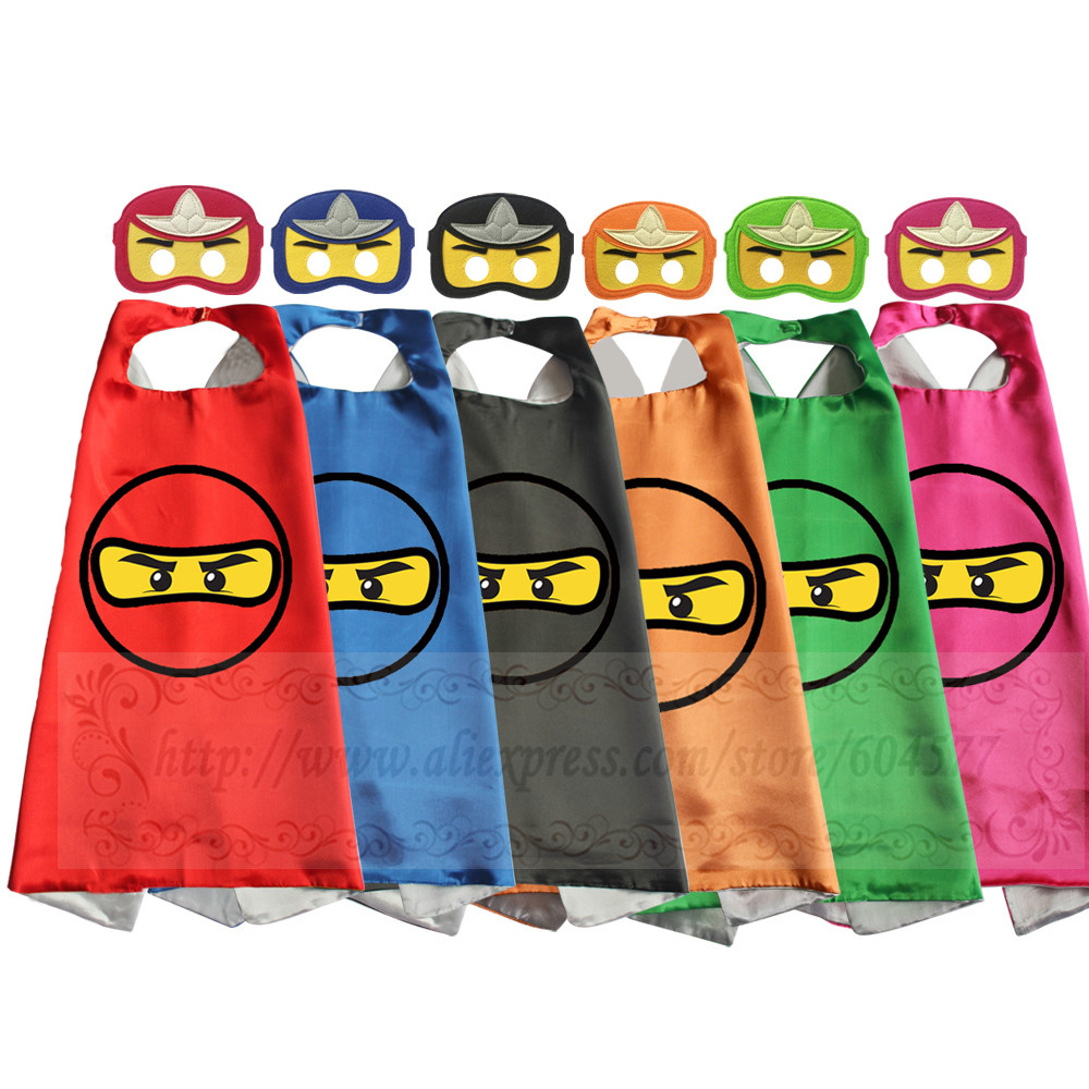 Ninjja Capes with masks Pretend Play BirthdayParty Favor Inspired Dress Up Capes with Masks