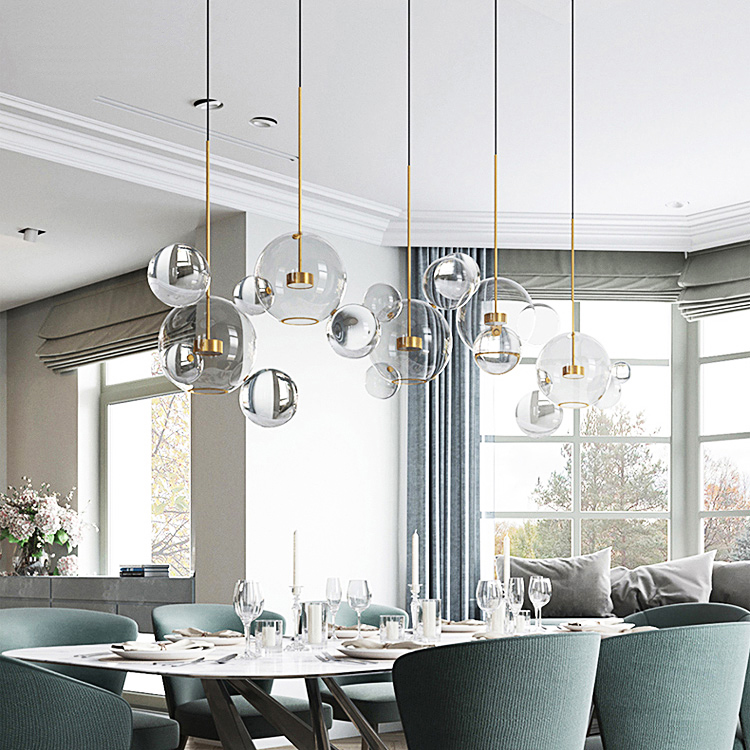 Lights & Lighting Romantic Modern Led Chandelier Novelty Fixtures Restaurant Glass Ball Lamp Nordic Hanging Lights Bedroom Lighting Living Room Chandeliers And To Have A Long Life.