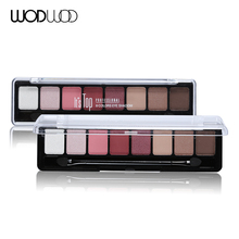 8 Earth Color Nude Makeup Eye Shadow Palette Smoky Glitter Matte Make Up Brush