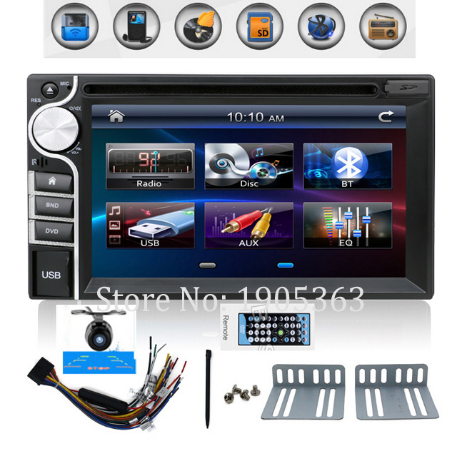 100% New universal Car Radio Double 2 din Car DVD Player In dash Car PC Stereo Head Unit video car parking camera HD 2 din car dvd frame dashboard kits front bezel radio frame adaper dvd cover dash trim kit for kia rio 5 door rhd double din