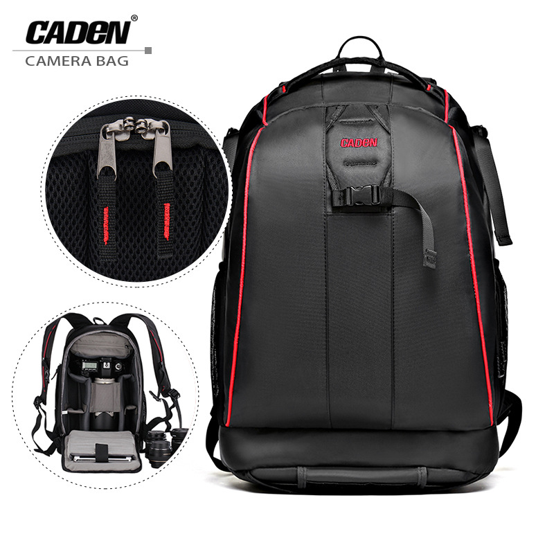 CADeN Professional Travel Waterproof Backpacks Camera Bag Photo Video Digital Bags Shoulder Lens Case For Sony Canon Nikon a6000 ozuko brand dslr camera bag fashion chest pack slr camera video photo digital single shoulder bag waterproof school travel bags
